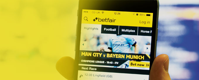 Betfair App header