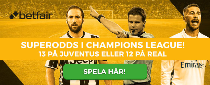 Superodds på Juventus och Real Madrid