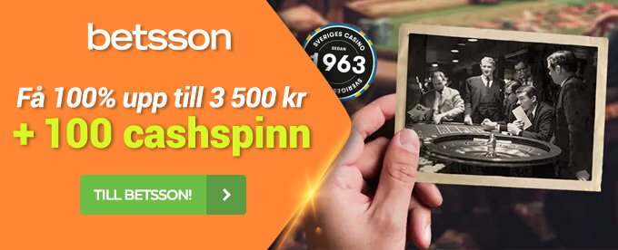 Betsson Casino header