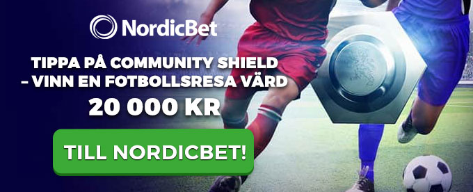 NordicBet Community Shield header