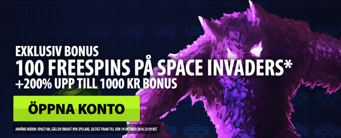 Space Invaders free spins