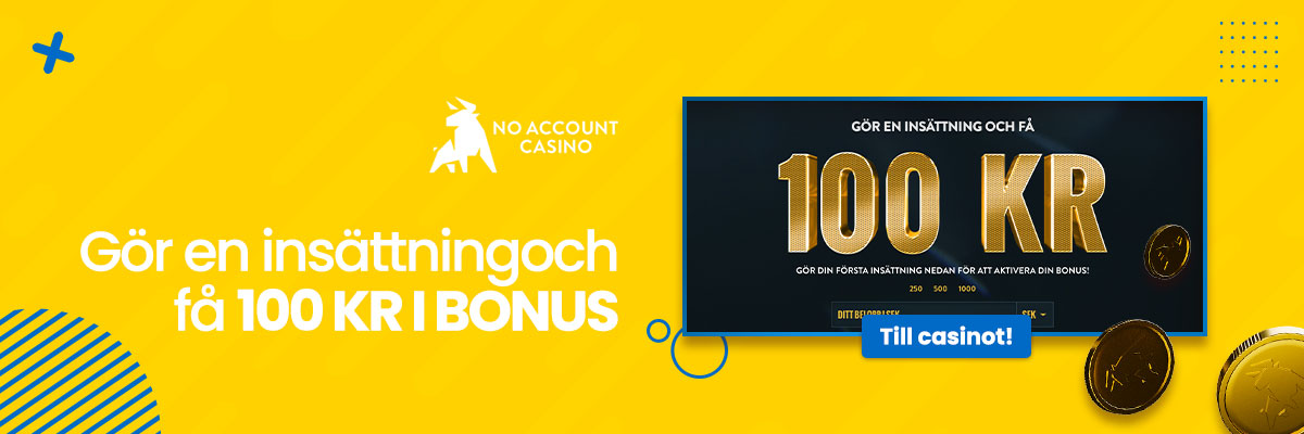 No Account Casino header