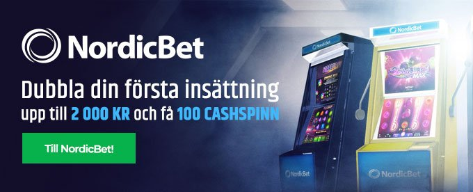 NordicBet bonus header